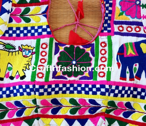 Designer Handmade banjara Embroidered Blouse