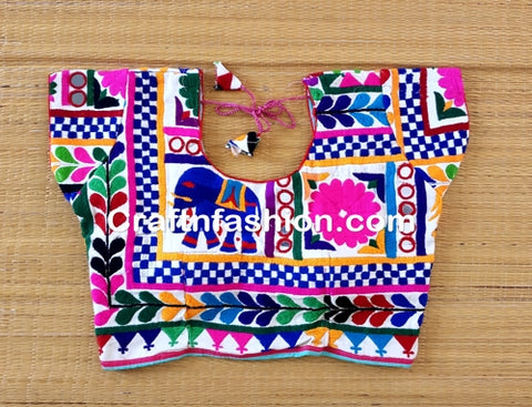 Designer Tribal style kutch work blouse
