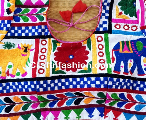 Ready Made Kutchi Embroidery Blouse