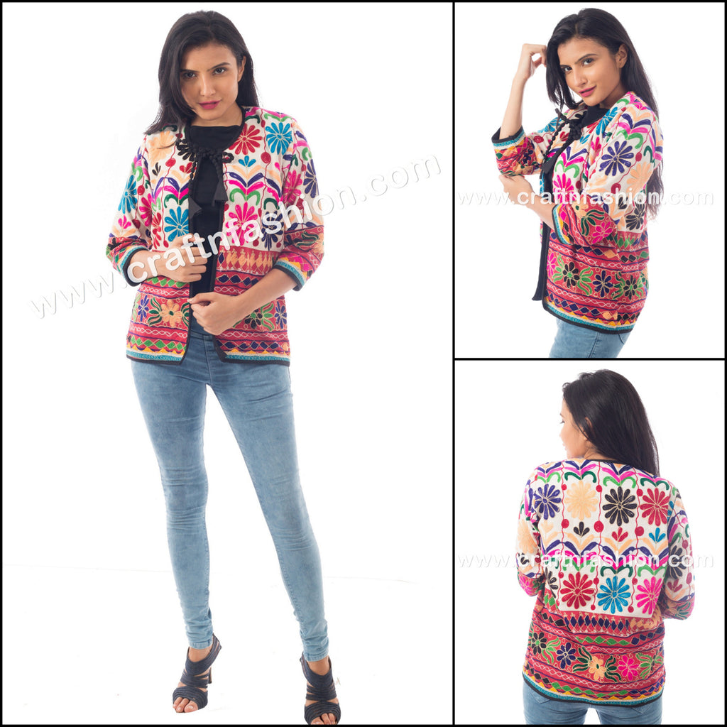 Floral Embroidered Hippie Boho Jacket