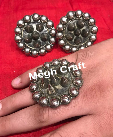 Afghani Kuchi German Silver Statement Rings