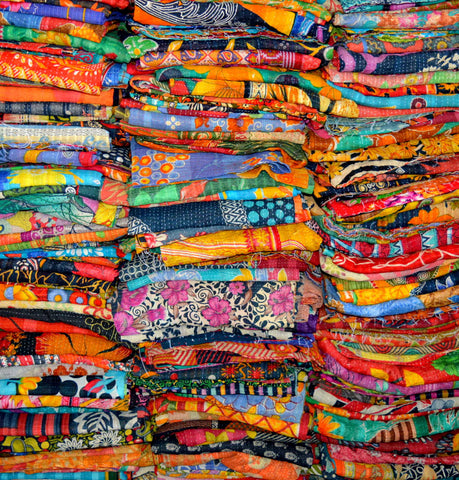 Wholesale Lot : - Indian Vintage Kantha Quilts Throw - Handmade Bohemian Bedding Kantha Quilts Throw   10 Pieces