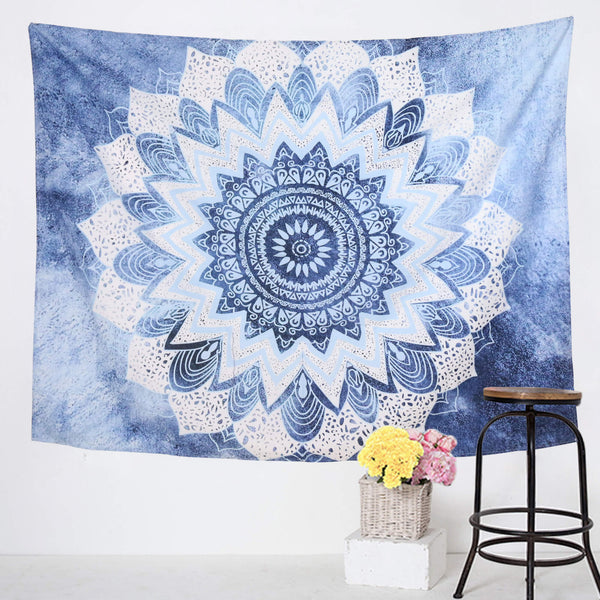 Blue & White Lotus Mandala