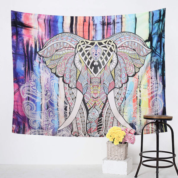Tie-dye Colored Elephant