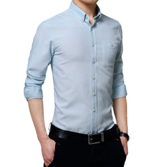 Business Casual Button Down Dress Shirt - Long Sleeves Office Shirt