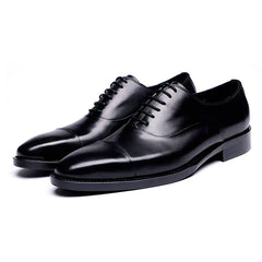 Full Grain Leather Cap Toe Oxford Shoes