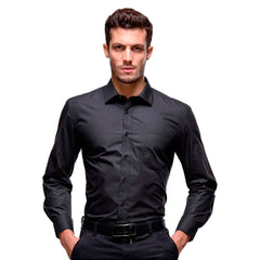 Men's Slim Dress Shirt - Formal Long Sleeve Shirt