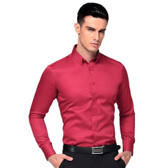 Men's Button Down Dress Shirt - Casual Long Sleeves Cotton Dress Shirt