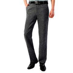 Men's Wrinkle Free Linen Breathable Pants - Formal Summer Trousers