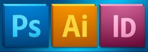Adobe photoshop illustrator and in design icons