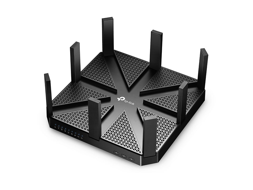 TP-Link Archer C5400 AC5400 5400Mbps Wireless Tri-Band MU-MIMO Gaming Gigabit Router 4xLAN 1xWAN 2xUSB 8xAntennas Advanced NitroQAMTM LS - Straight Forward AV and IT