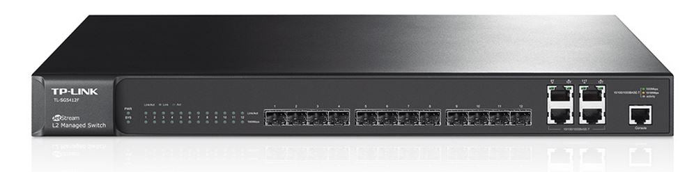 TP-Link TL-SG5412F JetStream 12-Port Gigabit SFP L2 Managed Switch with 4 Combo 1000BASE-T Ports LS - Straight Forward AV and IT