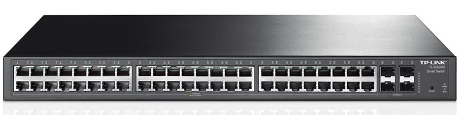 TP-Link T1600G-52TS (TL-SG2452) JetStream 48-Port Gigabit Smart Switch with 4 SFP Slots 104Gbps L2+ Feature - Straight Forward AV and IT