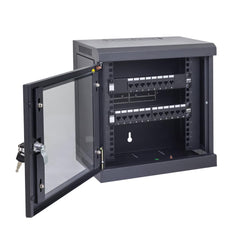 6RU Mini Black Cabinet for 10