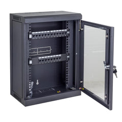9RU Mini Black Cabinet for 10