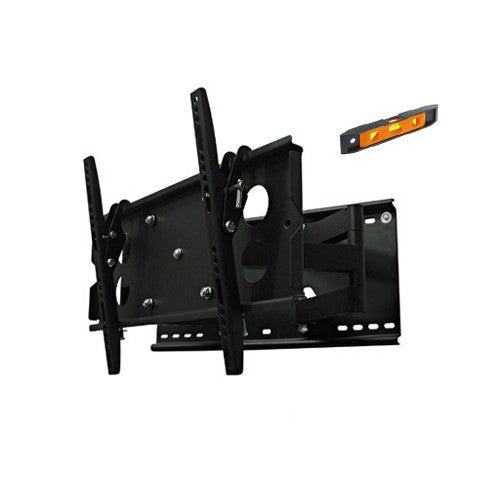 23-37in Slimline LED Plasma LCD TV Slim Tilt Swivel Pivot Full Motion Bracket PLB127S.bl - Straight Forward AV and IT