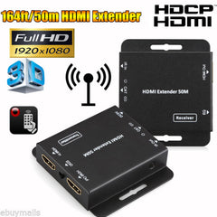 50M HD 1080P HDMI Signal Extender RX+TX Over Cable Cat6/Cat5e HDCP IR Control AU - Straight Forward AV and IT