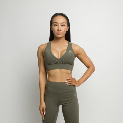 Flawless Sports Bra - Olive Green