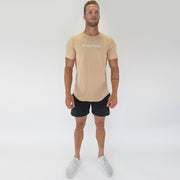 Mens Scoop Tee - Biege