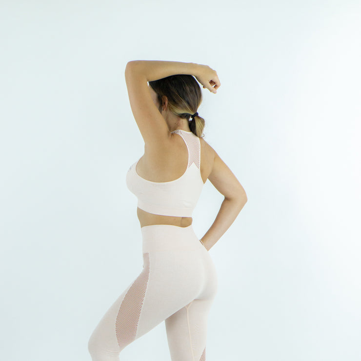 Committed Seamless Sports Bra - Creamy Pink