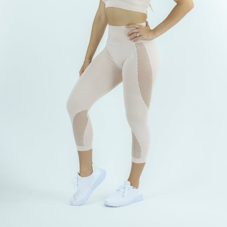 Committed Seamless 3/4 Leggings - Creamy Pink