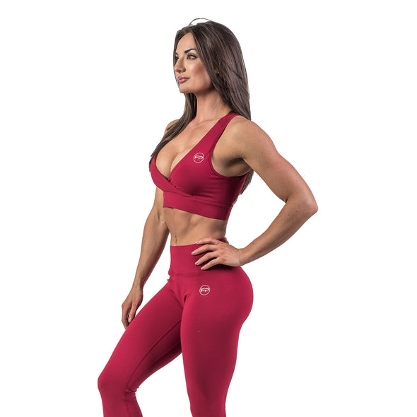 Flawless Sports Bra - Ruby Red