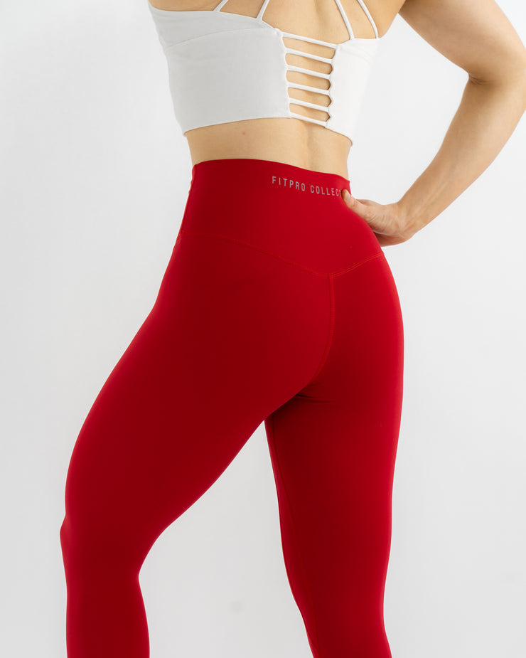 Sculpt Leggings - Rose Red