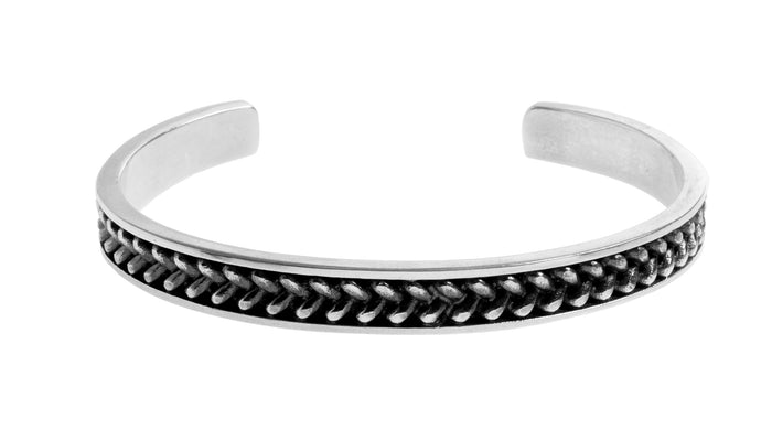 Mezzimo Vintage Woven Bangle | 925 sterling silver