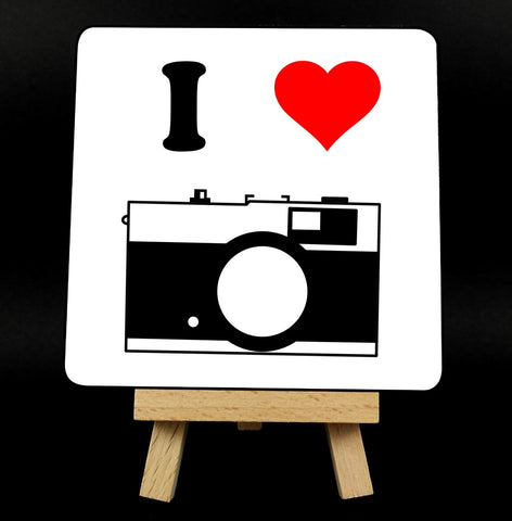 I Love Cameras/Photography Coaster