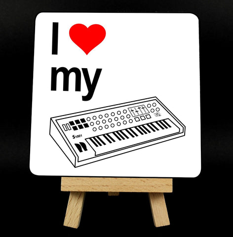 I Love My Synthesizer Coaster
