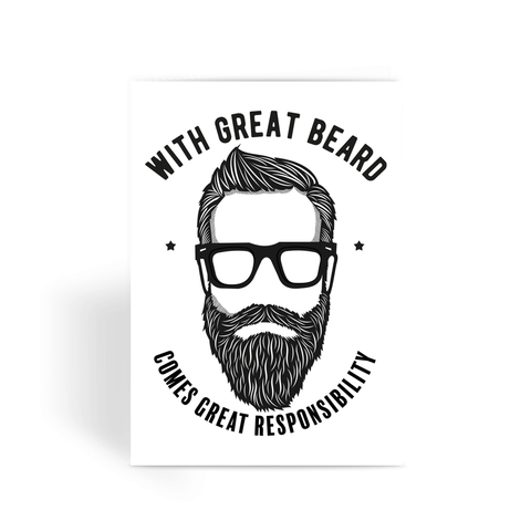 With Great Beard Greeting Card