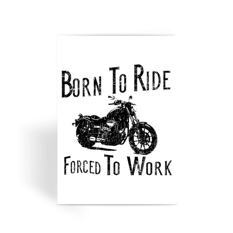 Born To Ride Motorcycle Greeting Card