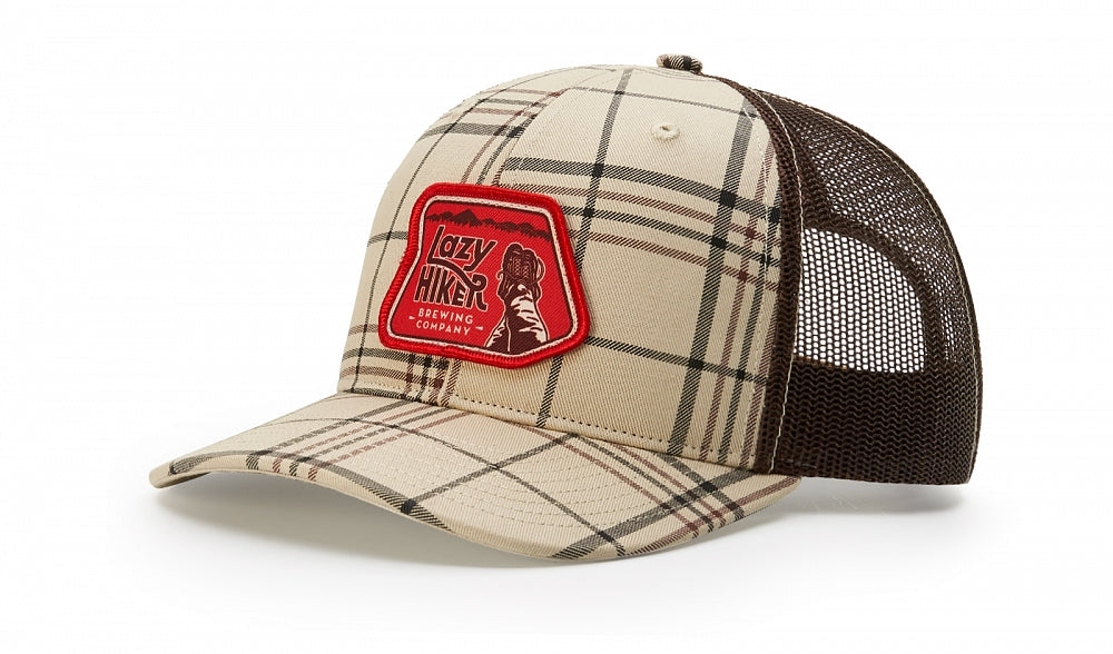 Richardson 112P - Printed Trucker Plaid Snapback