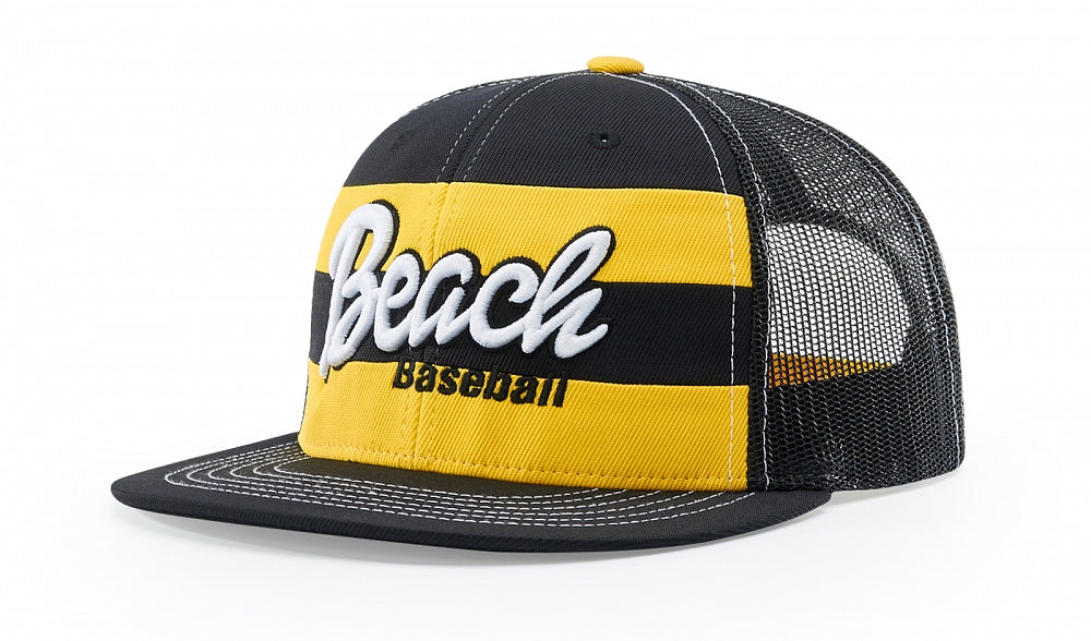 Richardson 162 Striped Front Mesh Back Snap-Back