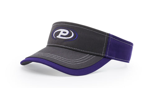 Richardson 775 Visor - Charcoal Front with Contrast Stitching - theback9
