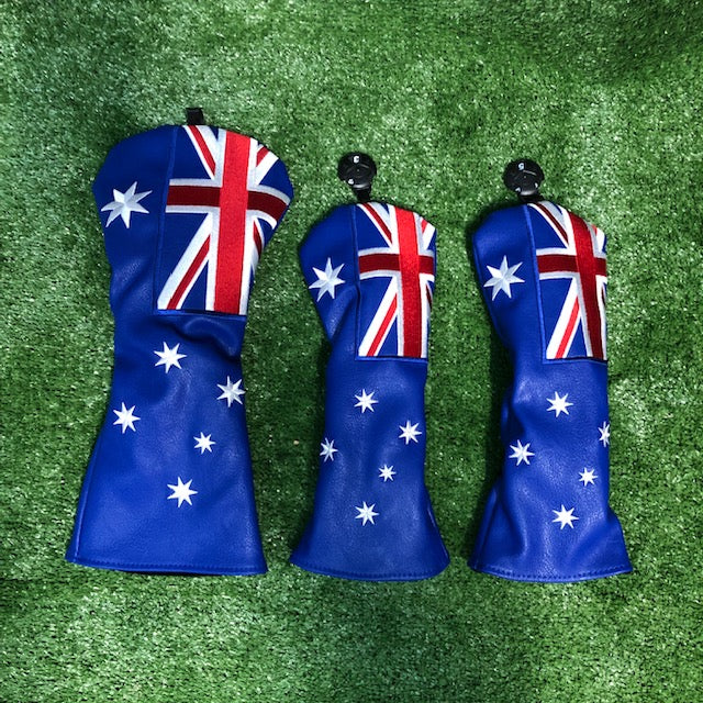 """Aussie Flag"" Premium Head Cover Set"