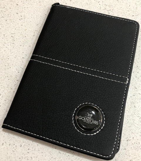 Scorecard Holder - PU Leather with Custom Ball Marker