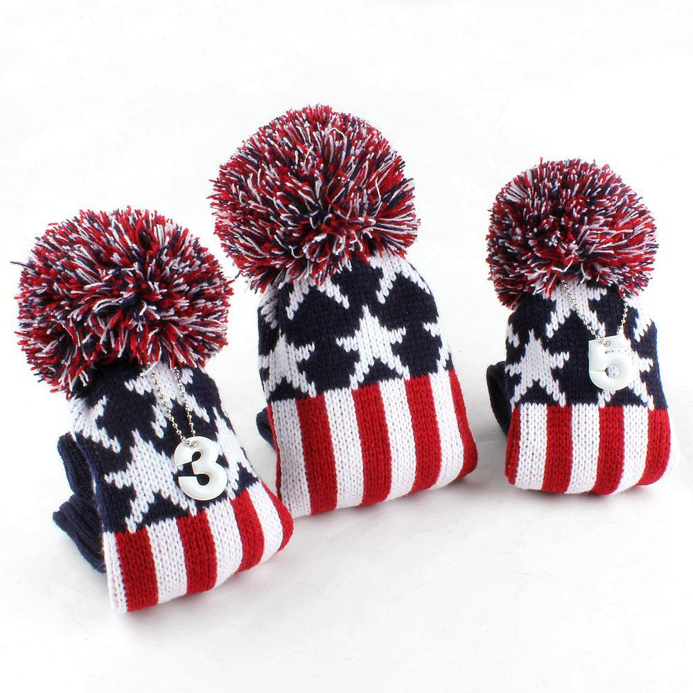Retro Knitted USA Flag Wood Cover Set - 1, 3, 5 - theback9