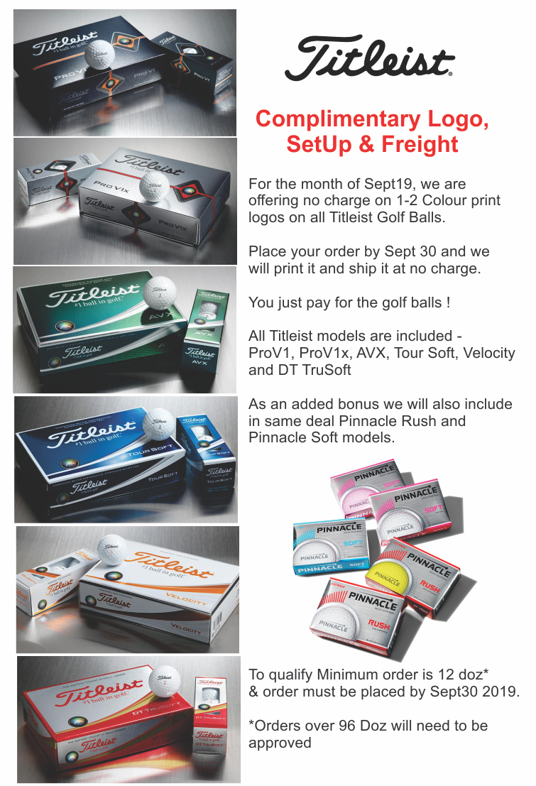 Titleist Golf Ball Complimentary Print Offer