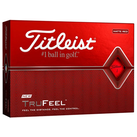 Titleist TruFeel Golf Ball - Matte Red
