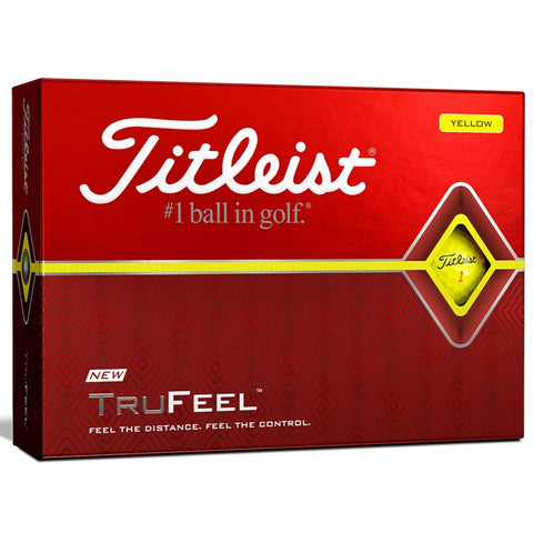 Titleist TruFeel Golf Ball - Yellow