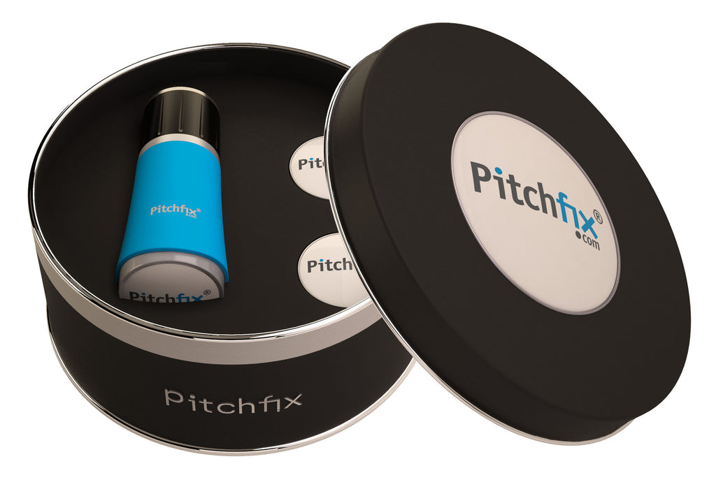 Pitchfix Twister 2.0 with 3 Ball Markers Gift Tin - theback9