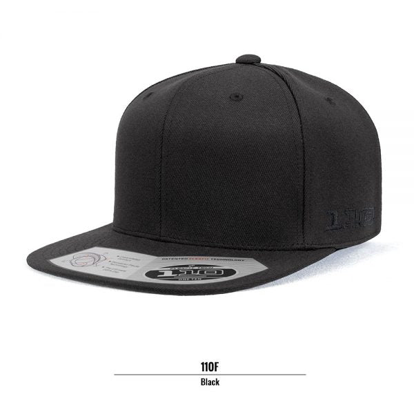 Flexfit 110F Flat Peak Cotton Twill Snapback Cap