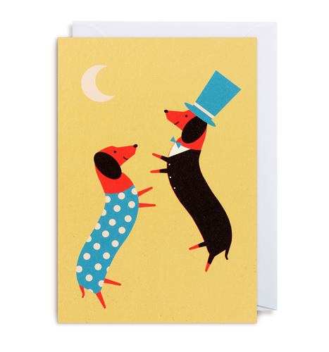 Dawid Ryski - Dancing Dachsunds Card