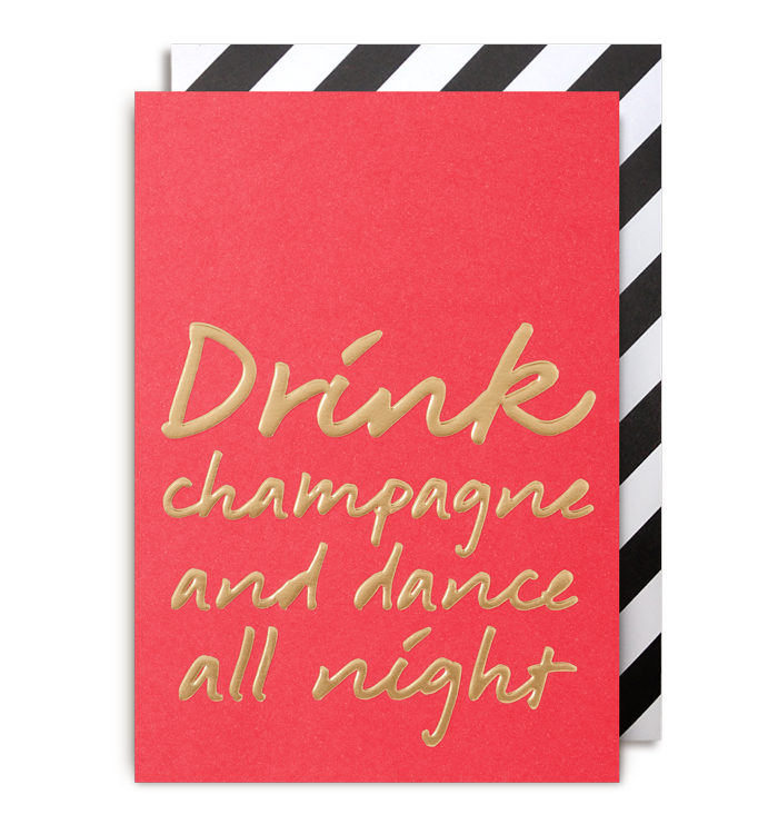 Kelly Hyatt (Postco) - Drink Champagne & Dance Till Midnight Card