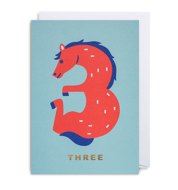 Cozy Tomato - Number Three Horse Card