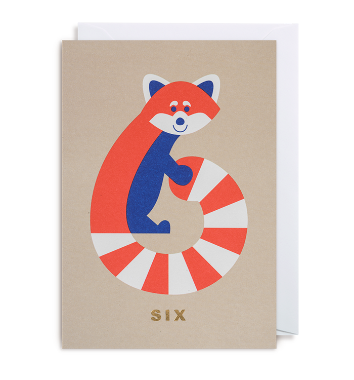 Cozy Tomato - Number Six Racoon Card
