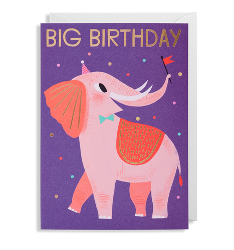 Allison Black - Elephant Birthday Card