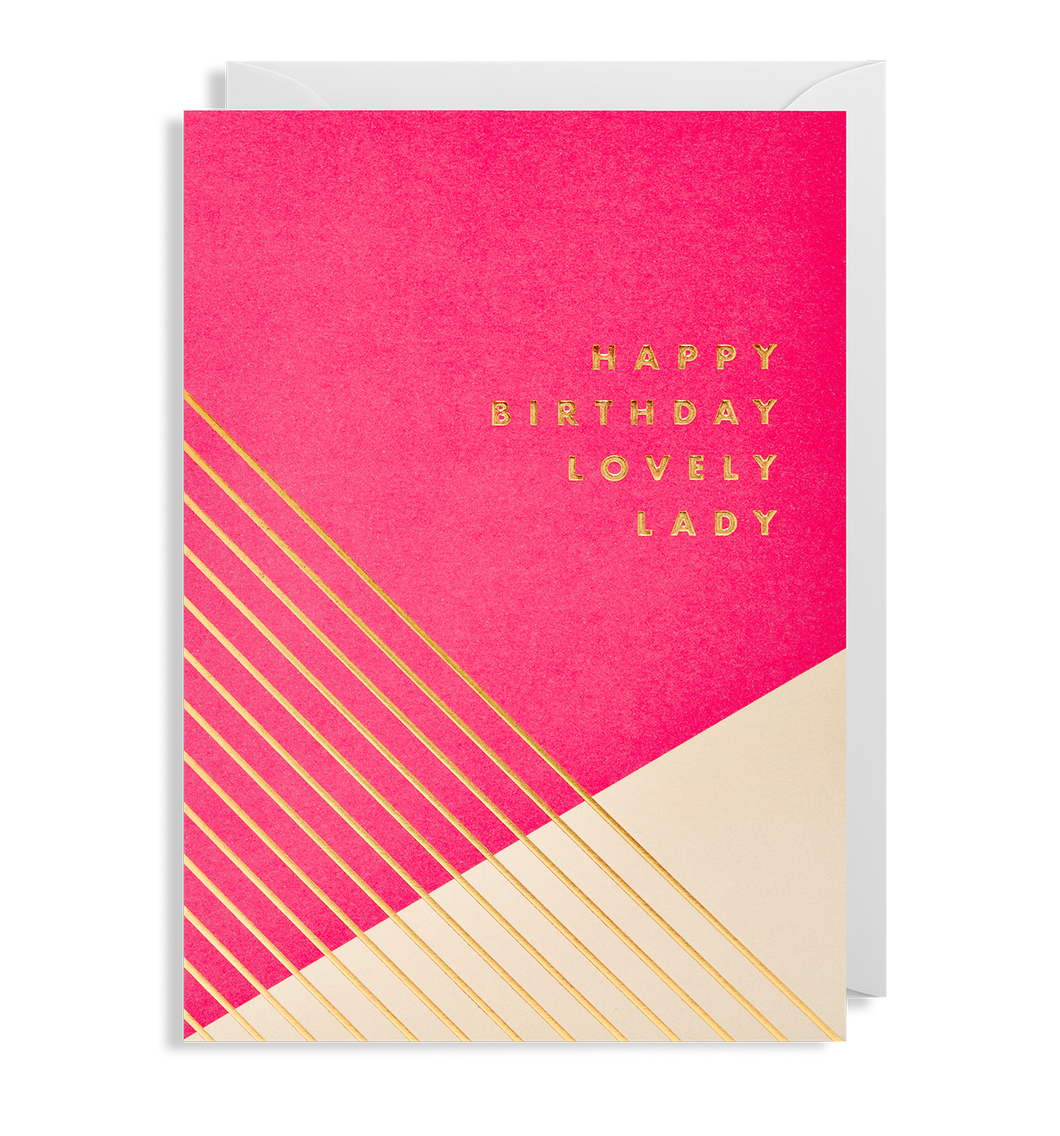 Kelly Hyatt (Postco) - Happy Birthday Lovely Lady Card