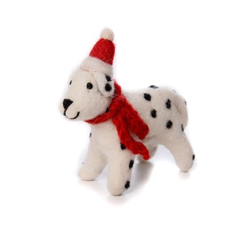 10cm Dalmatian with Hat Scarf